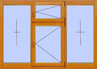 Деревянное окно №15