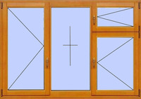 Деревянное окно №16