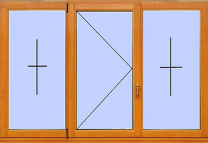 Деревянное окно №17