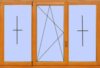 Деревянное окно №18
