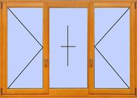 Деревянное окно №19