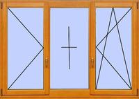 Деревянное окно №20