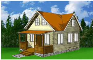 Дом DD02-322 (59,3 кв.м)