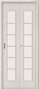Дверь межкомнатная складная ламинированная Bravo, 2С