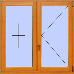 Деревянное окно №10