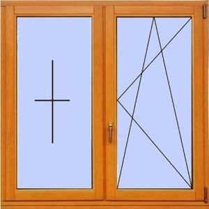Деревянное окно №11