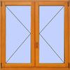 Деревянное окно №12