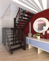 Деревянная универсальная лестница ЛЕС-62  (поворот 180)