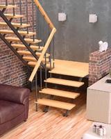Комбинированная универсальная лестница ЛЕС-06 (поворот 180°)