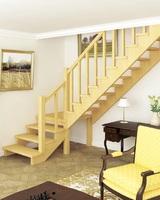 Деревянная универсальная лестница ЛЕС-08 (поворот 90