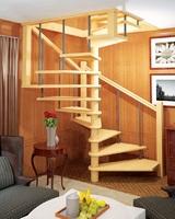 Деревянная универсальная винтовая лестница ЛЕС-10 (поворот 360°)