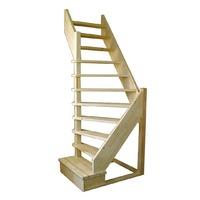 Деревянная межэтажная лестница ЛЕС-92у (поворот 90°)