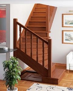 Деревянная универсальная лестница ЛЕС-02 (поворот 90°)