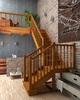 Деревянная универсальная лестница ЛЕС-04 (поворот 90°)