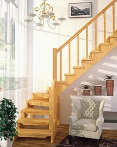 Деревянная универсальная лестница ЛЕС-09 (поворот 90°