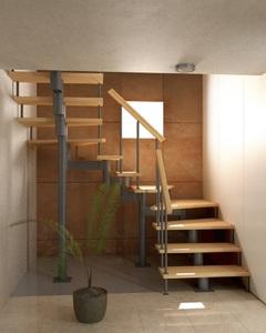 Модульная лестница (с поворотом на 180°)